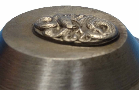 Picture of Impression Die Coiled Snake with Tongue