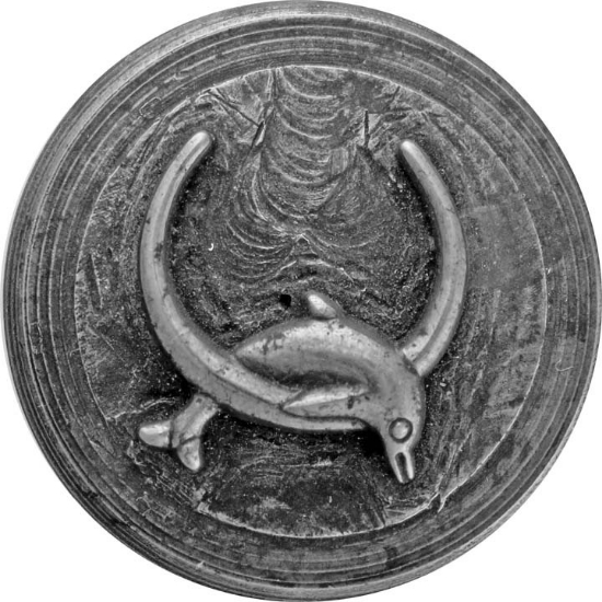 Picture of Impression Die Dolphin Jumping Through Hoop