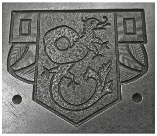 Picture of Enamel Stamping Dragon Crest