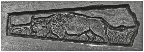 Picture of Silver Stamping Bison in Field