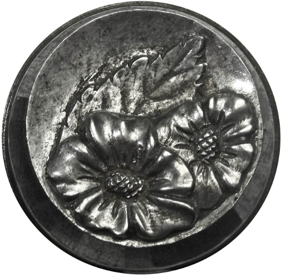 Picture of Impression Die Bevelled Floral Button