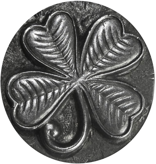 Picture of Impression Die Detailed Lucky Shamrock