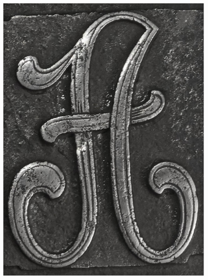 Picture of Impression Die Cursive 'A'