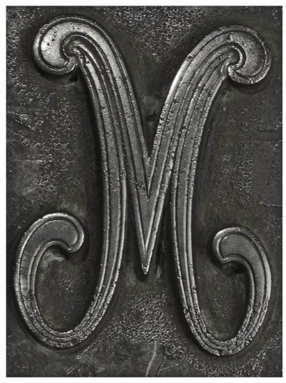 Picture of Impression Die Cursive 'M'
