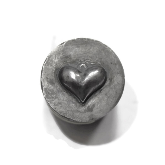Picture of Impression Die Bubble Heart Charm