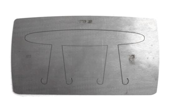 """Picture of Pancake Die Bracelet B019 Extra Skinny Taper 6 3/8"""""""