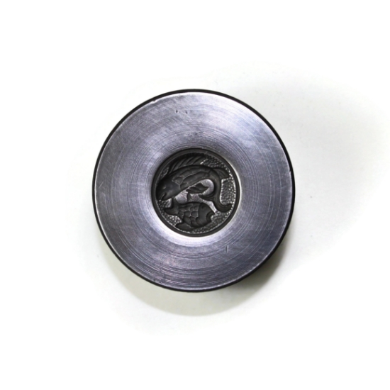 Picture of Pisces Zodiac Button Silver Stamping