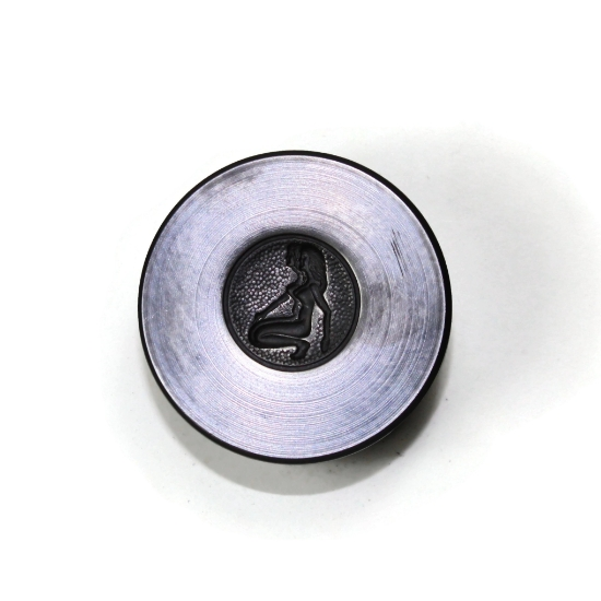 Picture of Gemini Zodiac Button Silver Stamping