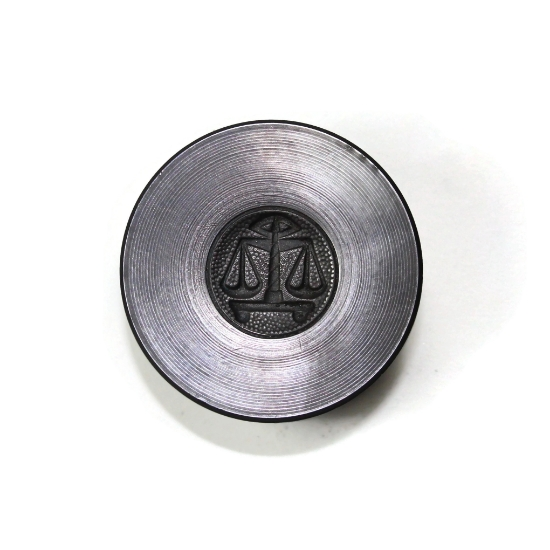 Picture of Libra Zodiac Button Silver Stamping