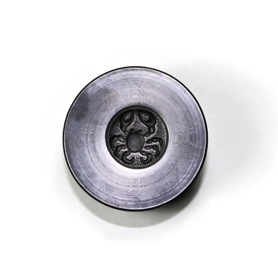 Picture of Cancer Zodiac Button Silver Stamping