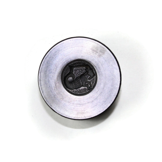 Picture of Capricorn Zodiac Button Silver Stamping
