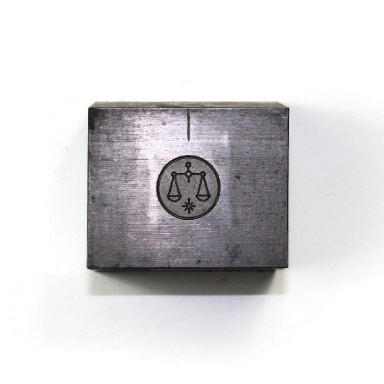 Picture of Minimalist Libra Silver Stamping