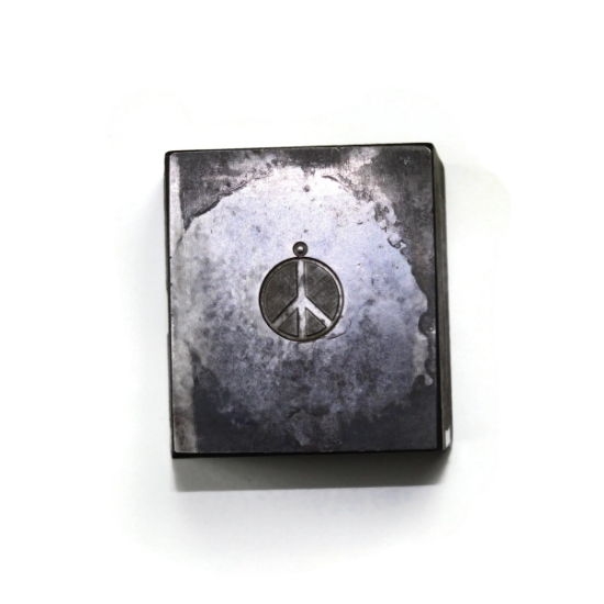 Picture of Peace Sign Silver Stamping