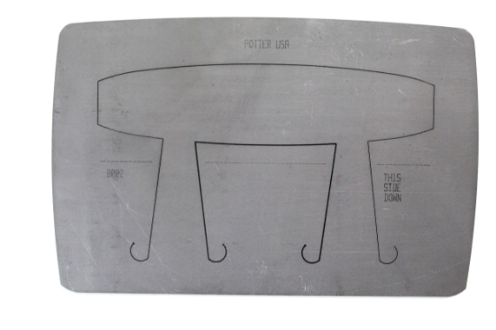 "Picture of Pancake Die Bracelet B002 Square Taper 5 3/4"""