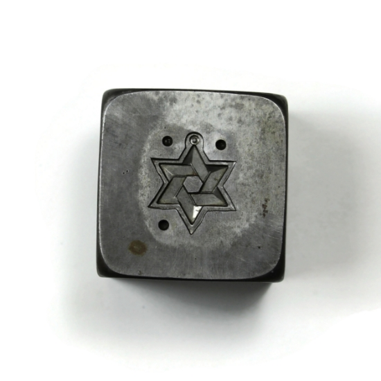 Picture of Deco Star of David Silver Stamping