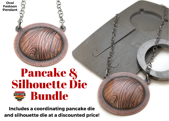 Picture of Pancake & Silhouette Die Bundle: Oval Festoon Pendant