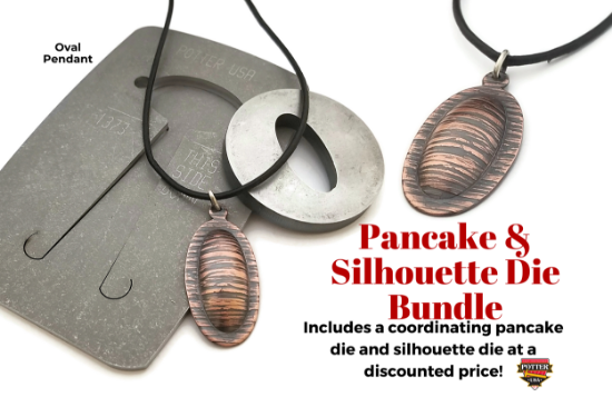 Picture of Pancake & Silhouette Die Bundle: Oval Pendant