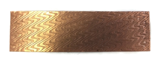 Picture of Smooth Waves Copper Patterned Sheet - CFW082