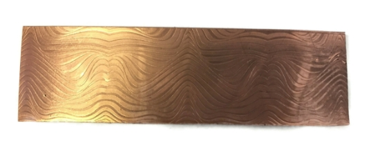 Picture of Psychedelic Waves  Copper Patterned Sheet - CFW083