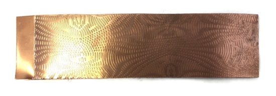 Picture of Moire Pattern Copper Patterned Sheet- CFW085