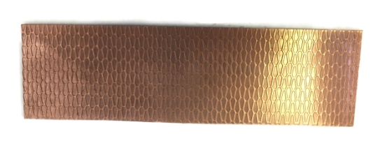 Picture of Coffin Honeycomb Copper Patterned Sheet - CFW086