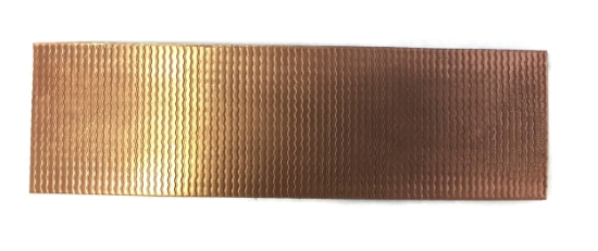 Picture of Ripples Copper Patterned Sheet - CFW089