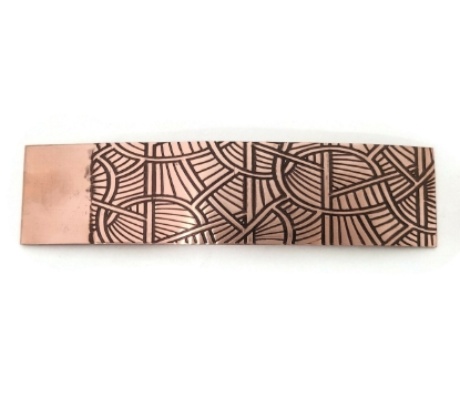 Picture of Linear Geometry Copper Patterned Sheet - CFW092