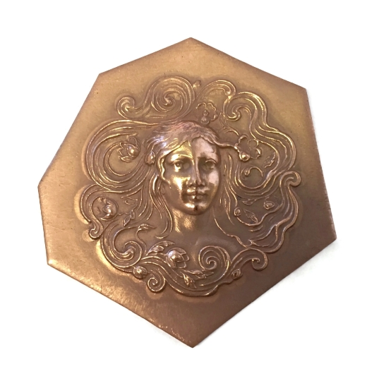 Picture of Copper Stampings Woman with Flowers in Hair Set of 2