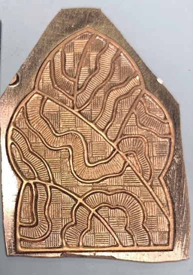 Picture of Copper Stamping Botanical Squiggles Set of 2