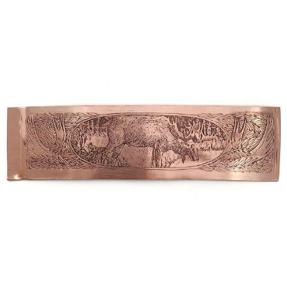 Picture of Moose in the Wild Copper Patterned Sheet