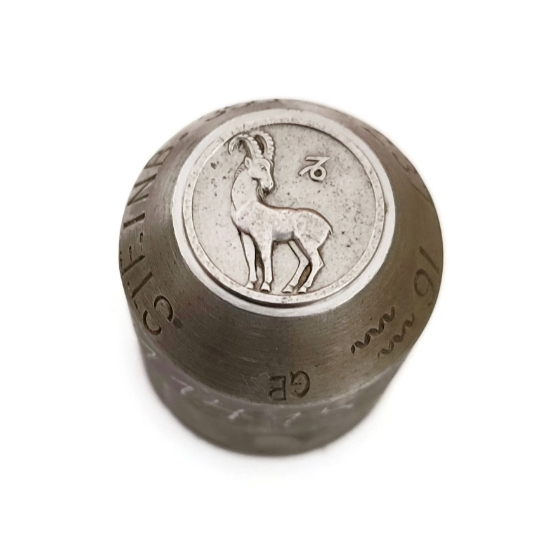 Picture of Impression Die Bas Relief Zodiac Coin-Capricorn