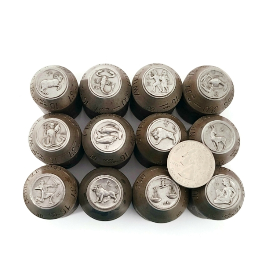 Picture of Impression Die Bas Relief Zodiac Coin Full Set