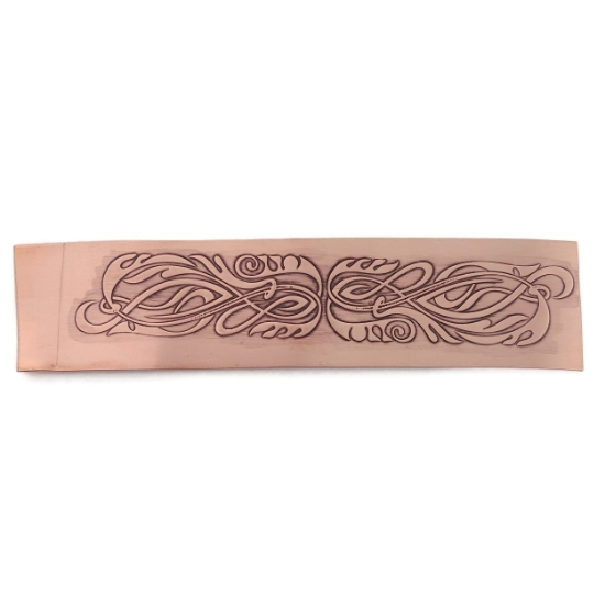 Picture of CFW109 Patterned Copper Sheet Nouveau Tendrils