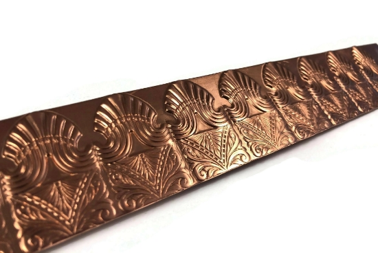 Picture of CFW112 Stamped Art Deco Marquise 1ft Copper Strip