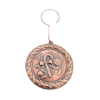 Picture of Copper Stamping Round Candy Cane Ornament