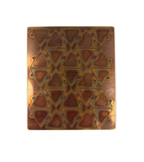 """Picture of Copper Pop-Out Blanks 1"""" Triangle - 20 Gauge"""