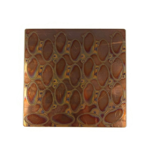 """Picture of Copper Pop-Out Blanks 1"""" Oval - 20 Gauge"""