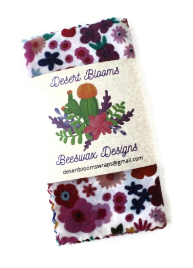 Picture of Beeswax Tool Wrap Flower Power - Small